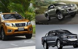 """So sánh 3 xe bán tải """"hot"""" Ford Ranger, Nissan Navara và Mitsubishi Triton"""