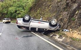 Đuổi Range Rover trên đèo, xe lái thử Isuzu D-Max bị lật ngửa