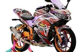 """Môtô thể thao Yamaha R25 phiên bản """"tắc kè hoa"""""""