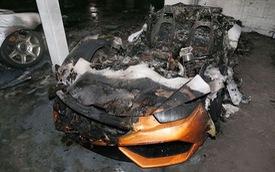 Lamborghini Huracan LP 610-4 bị lửa thiêu rụi trong hầm đỗ xe