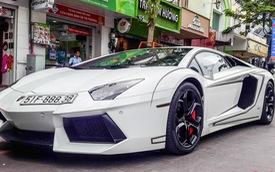 Lamborghini Aventador chính hãng đầu tiên Việt Nam dán decal hầm hố