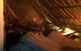 Quảng Ninh: Cháy lớn trong đêm, một chiếc Hyundai Sonata bị thiêu rụi