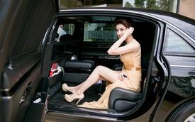 Á hậu Huyền My đi sự kiện bằng xe siêu sang Maybach 62S