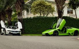 BMW i8 cùng Lamborghini Murcielago LP640 thả dáng trên phố Sài thành