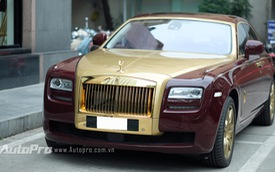 Cận cảnh Rolls-Royce Ghost mạ vàng chính hãng độc nhất Việt Nam