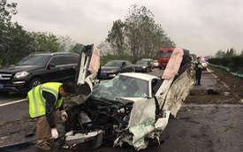 Siêu xe McLaren 570S thứ hai gặp nạn tại Trung Quốc