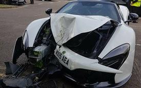 Video Range Rover kéo McLaren 12C ra khỏi lùm cây sau tai nạn tại bãi gửi xe của đám cưới gây xôn xao trên mạng