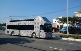 Xe buýt hai tầng mui trần lộ diện tại Đà Nẵng