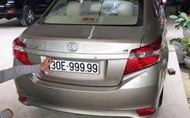 Toyota Vios mang biển ngũ quý 9 gây xôn xao tại Hà Nội