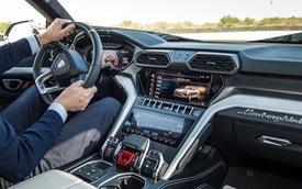 Siêu SUV Lamborghini Urus lần đầu lộ ảnh nội thất