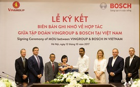 VINFAST và Bosch hợp tác sản xuất ô tô, xe máy điện