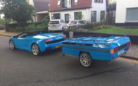 Choáng với chiếc Lamborghini Gallardo mui trần độ thêm thùng hàng