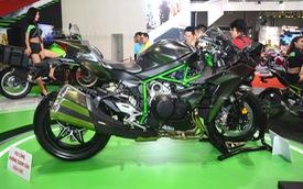 Chi tiết siêu mô tô hàng hiếm Kawasaki Ninja H2 Carbon tại triển lãm VMCS 2017