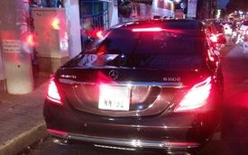 Bắt gặp Mercedes-Maybach S600 màu đá quý ruby đeo biển NN tại Sài thành
