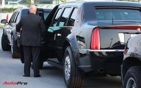 """Cận cảnh """"quái vật"""" Cadillac One đón Tổng thống Donald Trump tại sân bay Nội Bài"""