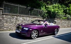 """Xe mui trần Rolls-Royce Dawn dành cho người """"cuồng"""" màu tím"""