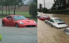 Nhiều siêu xe và xe thể thao chìm trong nước lũ sau cơn bão Harvey tại Mỹ