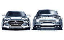 Hyundai Sonata nâng cấp lộ thiết kế thể thao hơn, Toyota Camry hãy dè chừng!