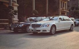 Cặp đôi Maybach 62S 45 tỷ Đồng của đại gia Ninh Bình xuất hiện trên phố