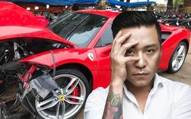 """Ferrari 488 GTB tan nát nhưng """"Hưng đã ổn, chỉ là tai nạn nhỏ"""""""