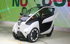 Xe lạ Toyota i-ROAD đã có mặt tại SECC cho Triển lãm Ô tô Việt Nam 2018