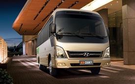 Xe khách Hyundai County ra mắt phiên bản mới tại Việt Nam