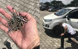 Nơm nớp thủng lốp xe khi đi xem Triển lãm ô tô Việt Nam 2018