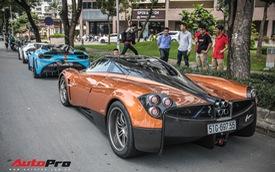 Đeo biển mới, Pagani Huayra đi ăn mừng khắp Sài Gòn cùng cặp đôi siêu xe khủng