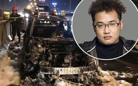 Hà Nội: Ô tô Mazda3 của thành viên ban nhạc Da LAB bốc cháy dữ dội trên vành đai 3