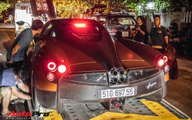 """Minh """"nhựa"""" mang Pagani Huayra, Lamborghini Aventador SV cùng dàn xe khủng đi Phan Thiết ăn mừng ngay trong đêm"""