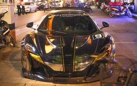 Hàng độc McLaren 650S Spider độ Liberty Walk của đại gia Dương Kon lăn bánh trên phố Hà Nội