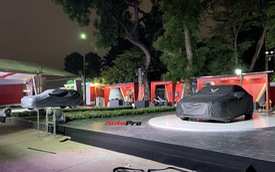 Dàn ô tô VinFast có mặt tại công viên Thống Nhất, sẵn sàng cho sự kiện ra mắt