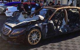 Mercedes-Maybach cháy trơ khung nhưng vành vẫn vẹn nguyên