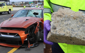 Nhân viên Nissan lái siêu xe tử vong do người trên cầu ném cả khối bê tông trúng đầu