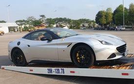 Siêu xe Ferrari California T hàng hiếm cùng Porsche Cayman của ông chủ cà phê Trung Nguyên bất ngờ được đưa đến Hà Nội