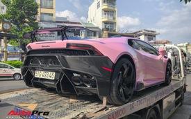 Lamborghini Huracan màu hồng nữ tính của đại gia Bạc Liêu