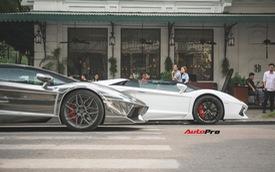 """Cặp đôi Lamborghini Aventador Roadster """"khuấy đảo"""" Hà Nội"""