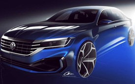 Volkswagen hé lộ Passat 2020 cạnh tranh Toyota Camry