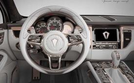 Nội thất vàng hồng cho dân chơi iPhone sở hữu Porsche Macan
