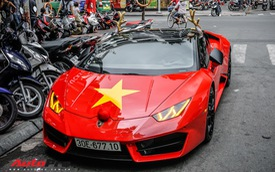 Sẵn màu đỏ, đây là cách đại gia Việt dùng Lamborghini Huracan LP580-2 đón Giáng Sinh