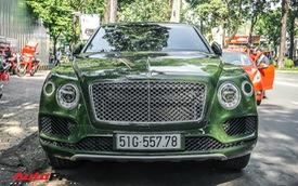 Bentley Bentayga màu xanh lục độc nhất Việt Nam tái xuất trên phố Sài Gòn