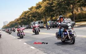 Chùm ảnh hơn 100 xe Harley-Davidson diễu hành, vượt đèo Hải Vân