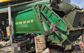 Nghệ An: Xe rác mất lái gây tai nạn rồi lao thẳng vào nhà dân, 3 người nhập viện cấp cứu
