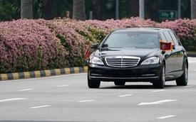 Xem Mercedes-Benz S600 bọc thép tháp tùng ông Kim Jong Un tới khách sạn siêu sang