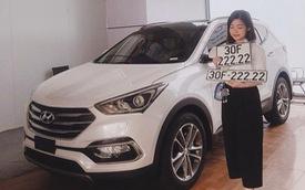 Hyundai Santa Fe rinh về biển số ngũ quý 2 tiếp theo tại thủ đô
