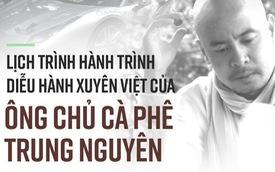 [Infographic] Những nơi dừng chân trong 25 ngày xuyên Việt của đoàn xe Trung Nguyên