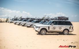 Dàn Range Rover của ông chủ cafe Trung Nguyên trổ tài offroad tại Bàu Trắng trong hành trình xuyên Việt