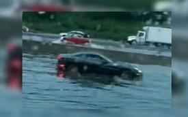 Ferrari California ngụp lặn trong biển nước, chết đứng vì thủy kích