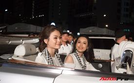 Bộ tứ hoa hậu và á hậu Việt Nam xuất hiện cùng những chiếc Rolls-Royce Phantom mui trần của Trung Nguyên