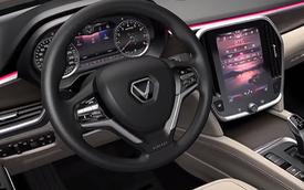 VinFast lộ hình ảnh nội thất đầu tiên: Logo chữ V nổi bật, màn hình cảm ứng lớn